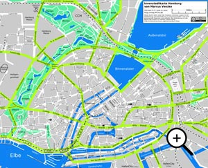 Übersichtskarte Hamburg