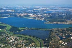 Blick auf den Cospudener See