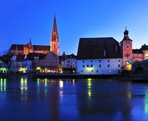 Abend in Regensburg
