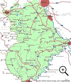 Karte der Eifel