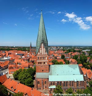 Blick auf Lüneburg