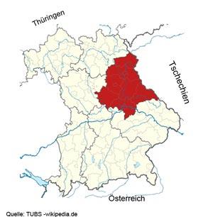 Karte Oberpfalz