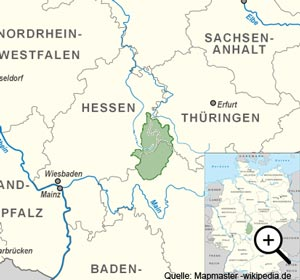 Geografische Lage der Rhön