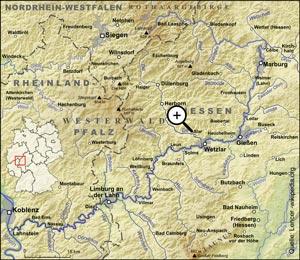 Übersichtskarte Westerwald