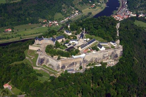 Blick von der Festung zum Lilienstein