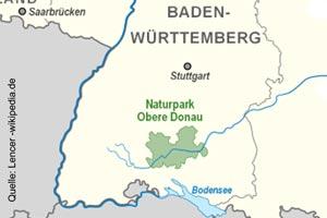 Karte Naturpark Obere Donau