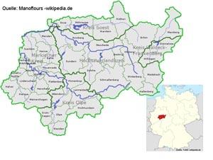 Geografische Lage Sauerland