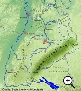 Karte Schwäbische Alp